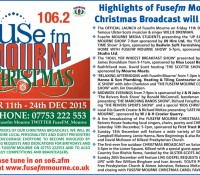 Highlights of Fusefm Mourne's Christmas Schedule